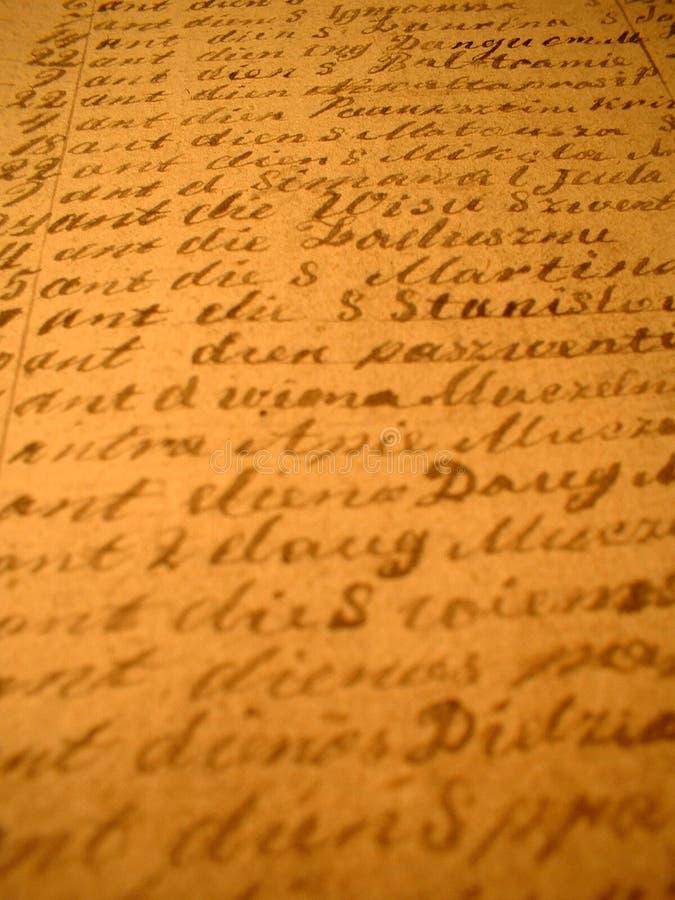 II escrito à mão foto de stock