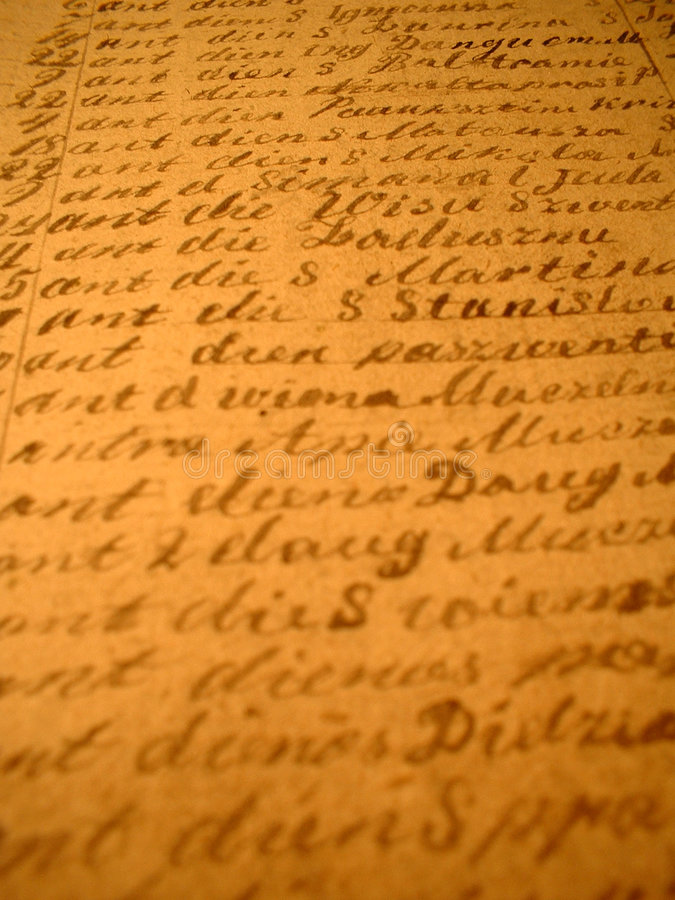 II manuscrito foto de archivo