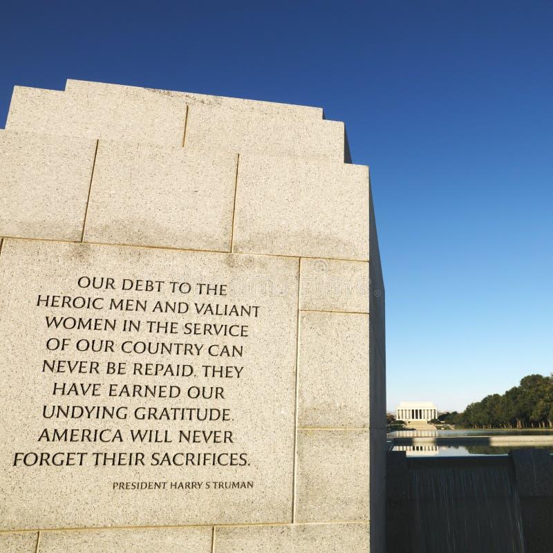 ii wojny pomnik świat zdjęcie stock