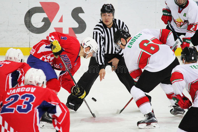 2016 IIHF-HET KAMPIOENSCHAP VAN DE IJSHOCKEYu20 WERELD stock afbeeldingen