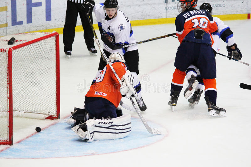 2016 IIHF ICE HOCKEY U20 WORLD CHAMPIONSHIP royalty free stock photo