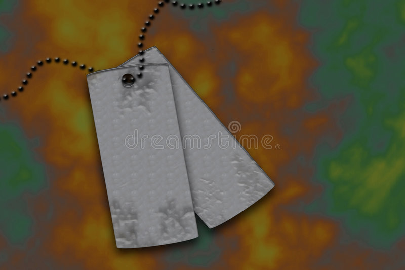 Iii金属标签 库存照片