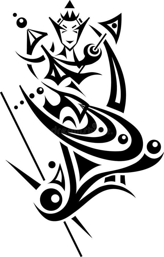 III blanco y negro libre illustration