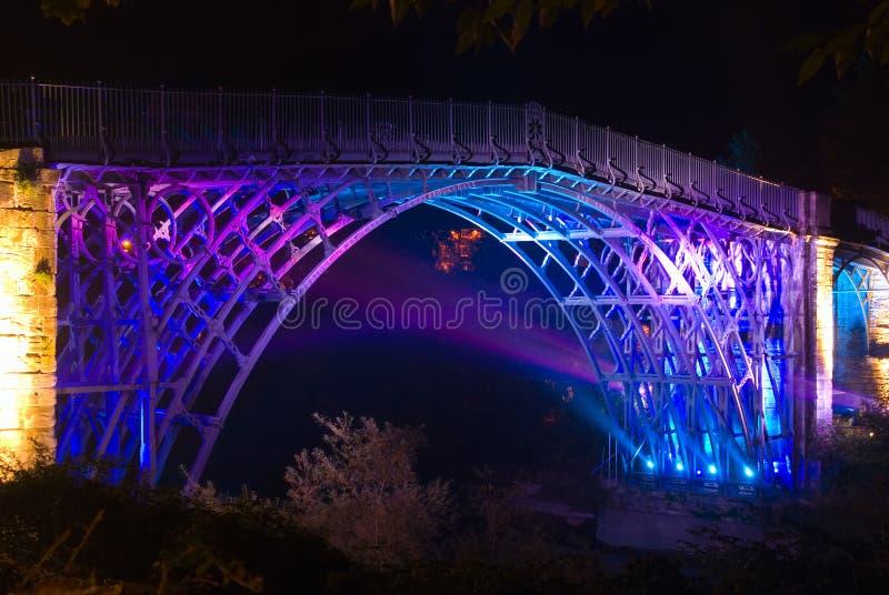 iii ironbridge lit up στοκ εικόνες με δικαίωμα ελεύθερης χρήσης
