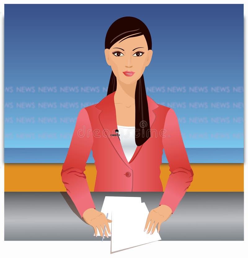 Iiilustration del relatore di notizie royalty illustrazione gratis