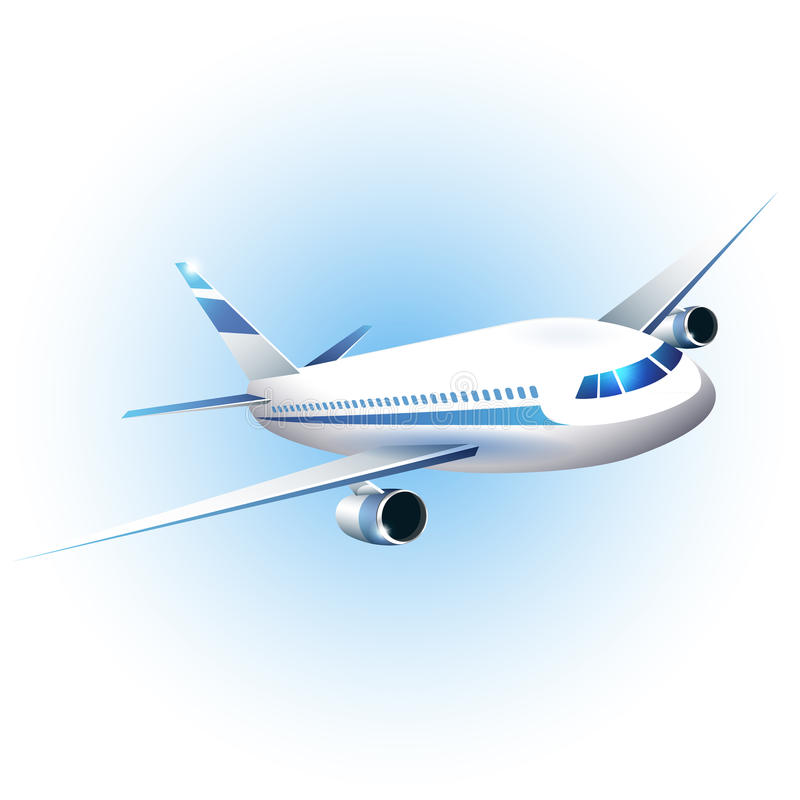 Free Iillustration Of The Airplane Royalty Free Stock Photography - 29889457