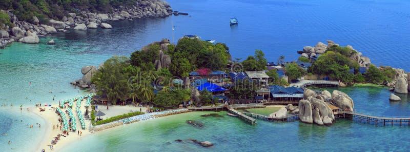 Iisland Koh Nang Yuan, Thailand arkivbilder