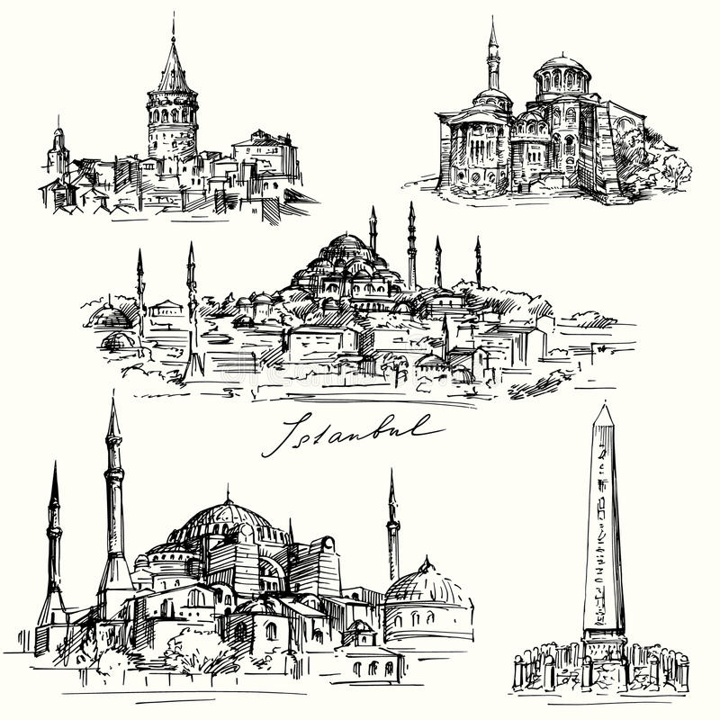 Iistanbul, Hagia - Sofia royalty ilustracja