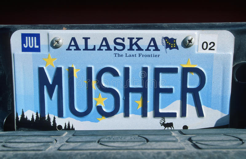Ijdelheidsnummerplaat - Alaska stock afbeelding