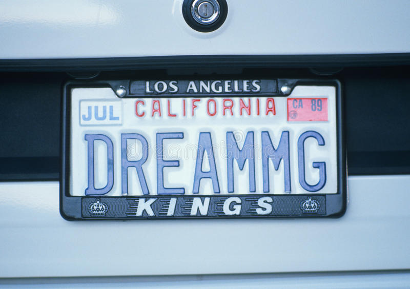 Ijdelheidsnummerplaat - Californië royalty-vrije stock foto's