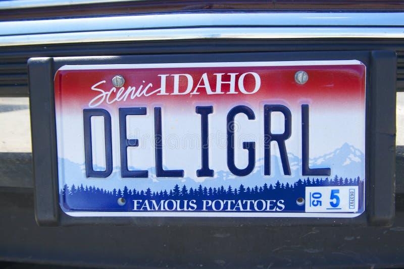 Ijdelheidsnummerplaat - Idaho royalty-vrije stock afbeeldingen