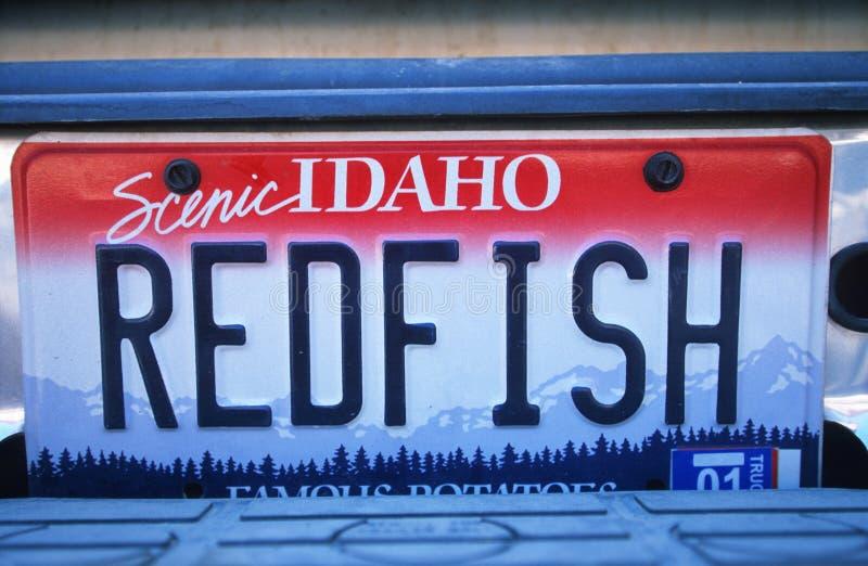 Ijdelheidsnummerplaat - Idaho royalty-vrije stock afbeelding