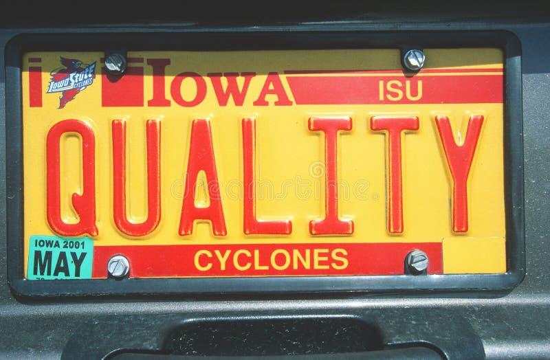 Ijdelheidsnummerplaat - Iowa royalty-vrije stock afbeeldingen