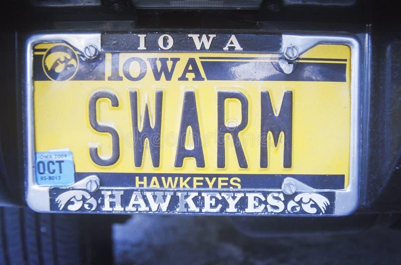 Ijdelheidsnummerplaat - Iowa royalty-vrije stock foto