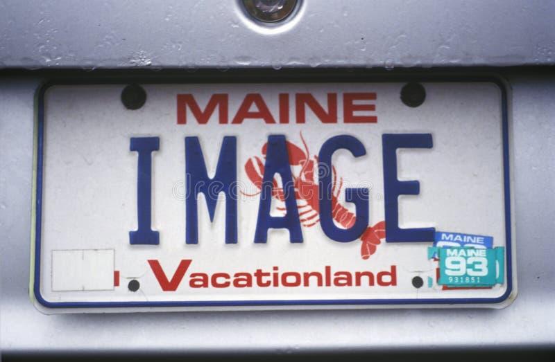 Ijdelheidsnummerplaat - Maine royalty-vrije stock afbeelding