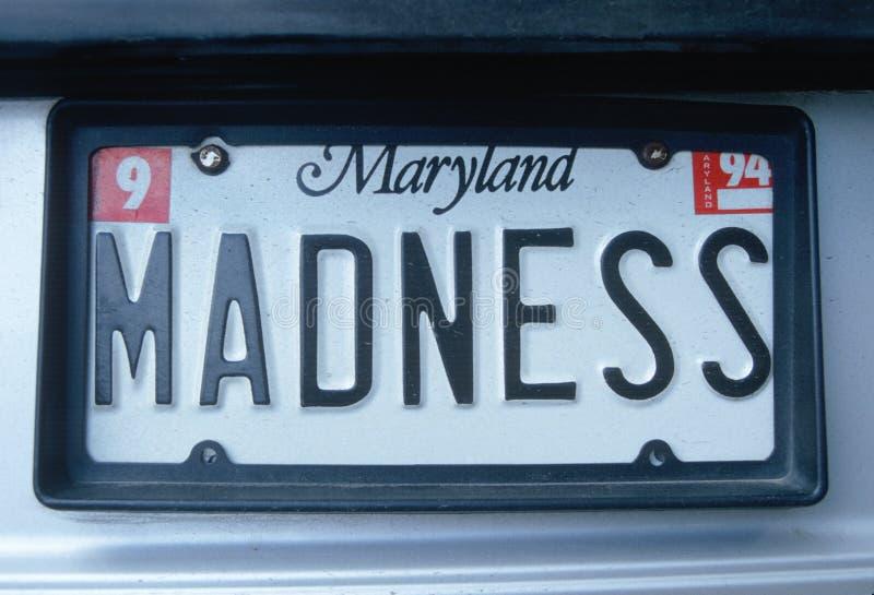 Ijdelheidsnummerplaat - Maryland stock afbeeldingen