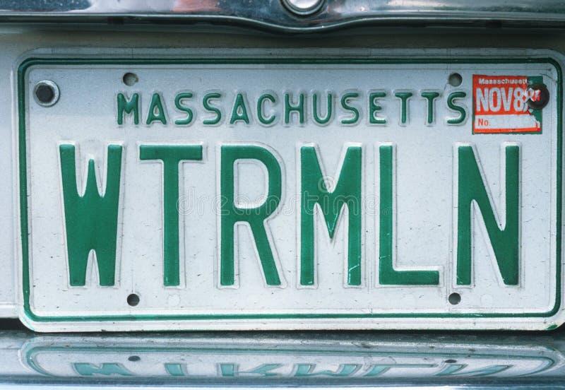 Ijdelheidsnummerplaat - Massachusetts stock afbeeldingen