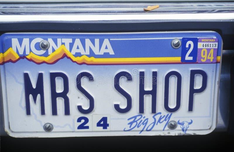 Ijdelheidsnummerplaat - Montana royalty-vrije stock foto