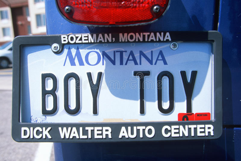 Ijdelheidsnummerplaat - Montana stock afbeeldingen