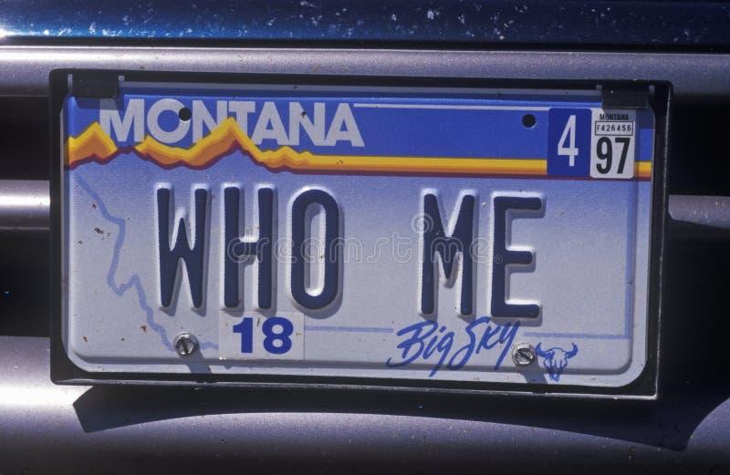 Ijdelheidsnummerplaat - Montana royalty-vrije stock afbeeldingen