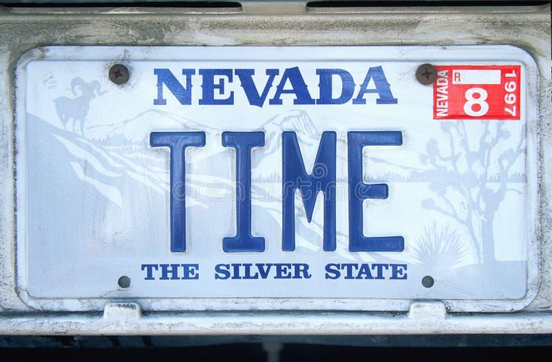 Ijdelheidsnummerplaat - Nevada royalty-vrije stock foto