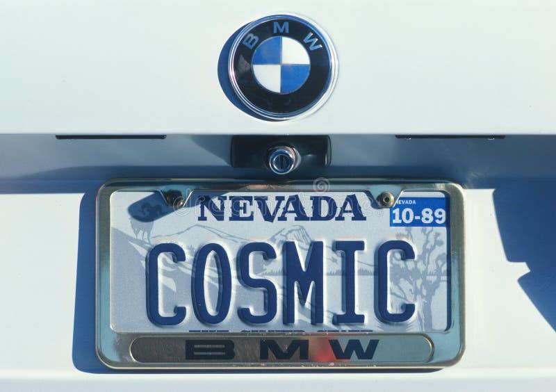 Ijdelheidsnummerplaat - Nevada stock afbeelding