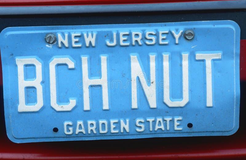Ijdelheidsnummerplaat - New Jersey stock foto