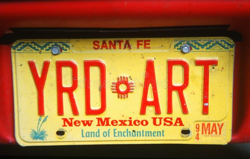Ijdelheidsnummerplaat - New Mexico royalty-vrije stock fotografie