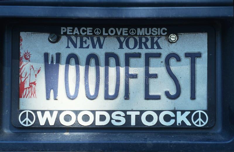 Ijdelheidsnummerplaat - New York royalty-vrije stock fotografie