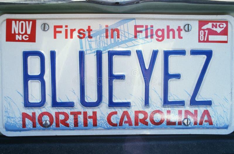 Ijdelheidsnummerplaat - Noord-Carolina stock foto's