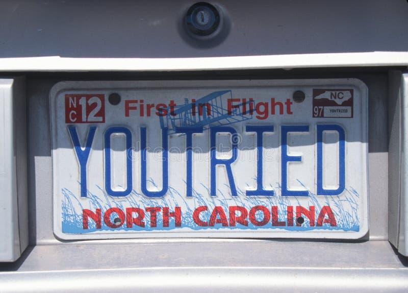 Ijdelheidsnummerplaat - Noord-Carolina stock afbeeldingen