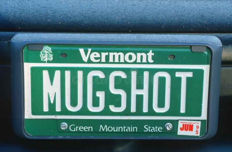 Ijdelheidsnummerplaat - Vermont royalty-vrije stock foto