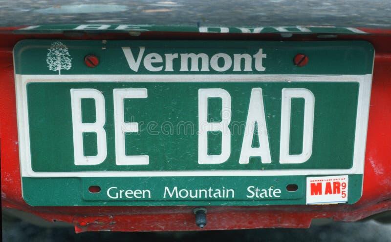 Ijdelheidsnummerplaat - Vermont royalty-vrije stock afbeeldingen