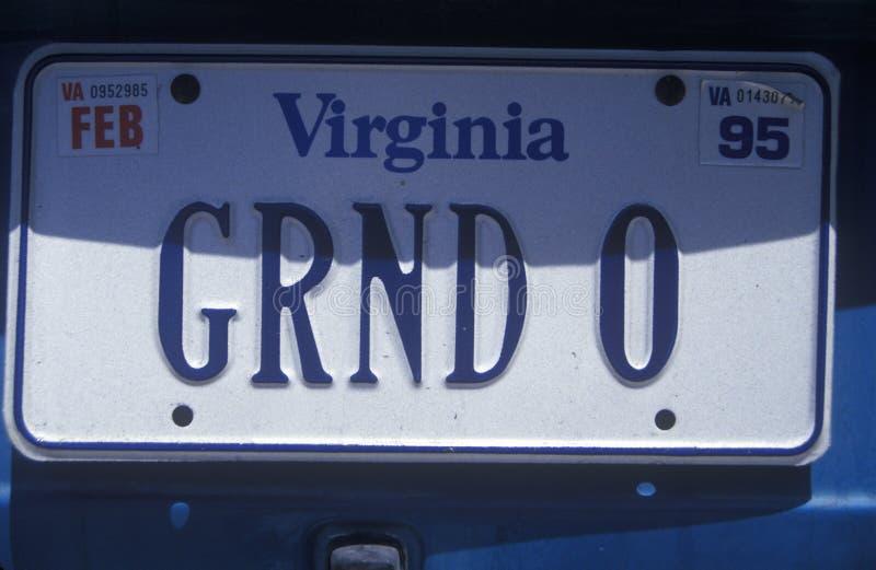 Ijdelheidsnummerplaat - Virginia royalty-vrije stock afbeeldingen