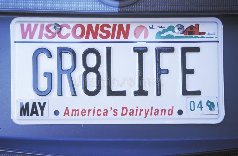 Ijdelheidsnummerplaat - Wisconsin royalty-vrije stock afbeelding