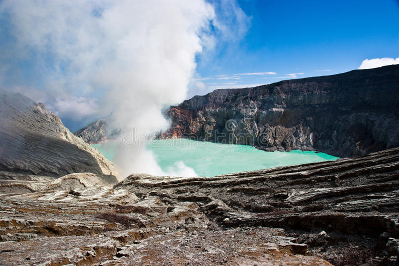 Ijen Krater lizenzfreies stockbild