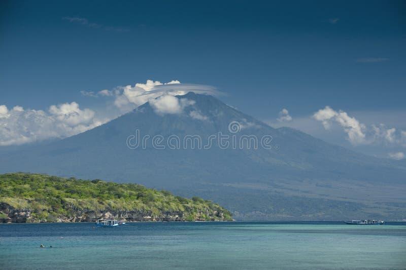 Ijen wulkan i Menjangan wyspa obrazy royalty free