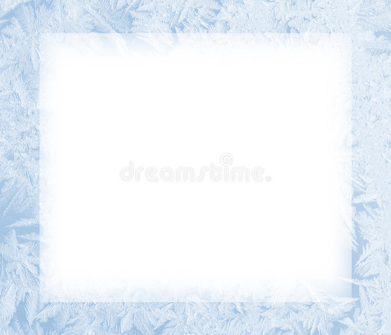 Ijs bevroren frame vector illustratie