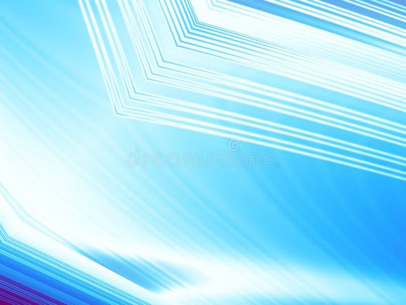 Ijs blauwe en witte abstracte fractal achtergrond met structuren en lichteffecten stock illustratie
