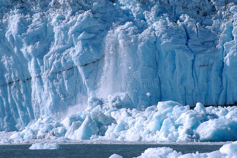 Ijs dat bij de Baai van de Gletsjer kalft royalty-vrije stock foto's
