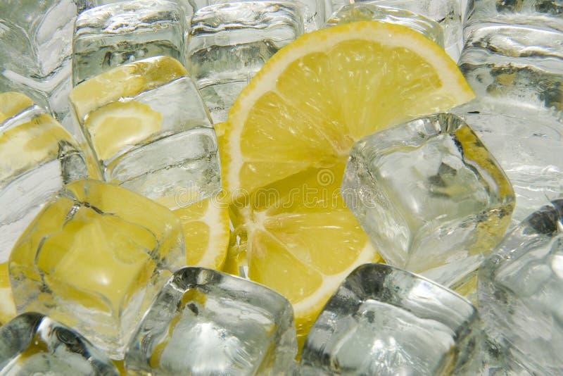 Ijs en citroen stock afbeeldingen