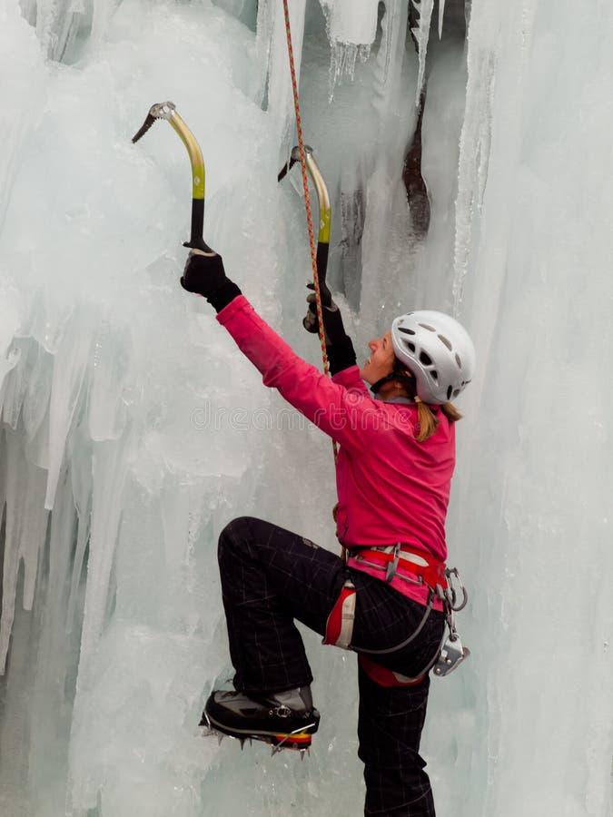 Ijs het Beklimmen stock afbeeldingen