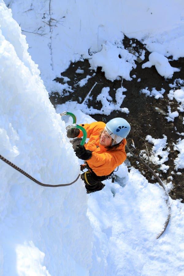 Ijs het Beklimmen stock fotografie