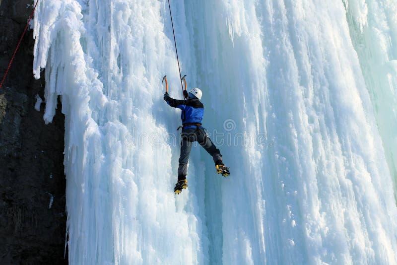 Ijs het Beklimmen stock foto