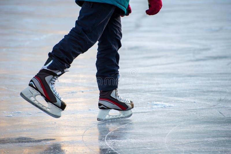 Ijs het schaatsen royalty-vrije stock fotografie