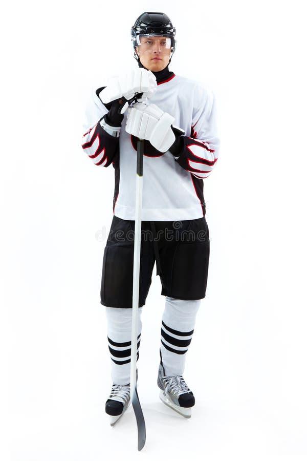 Ijs-hockey speler royalty-vrije stock fotografie