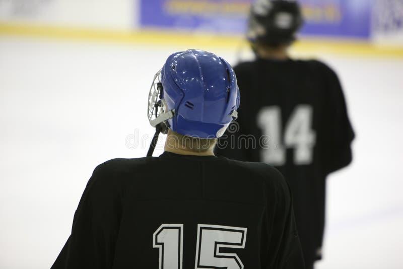 Ijs-hockey spelers royalty-vrije stock afbeelding
