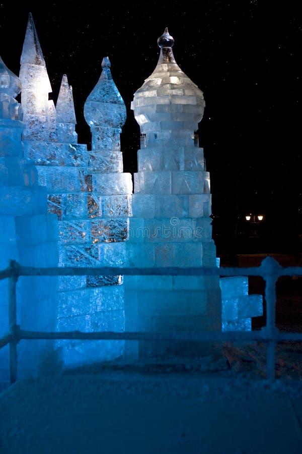 ijs kasteel stock afbeelding
