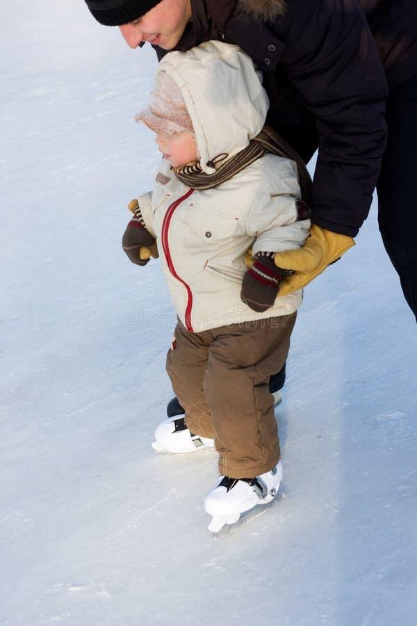 Ijs-schaatst royalty-vrije stock foto's