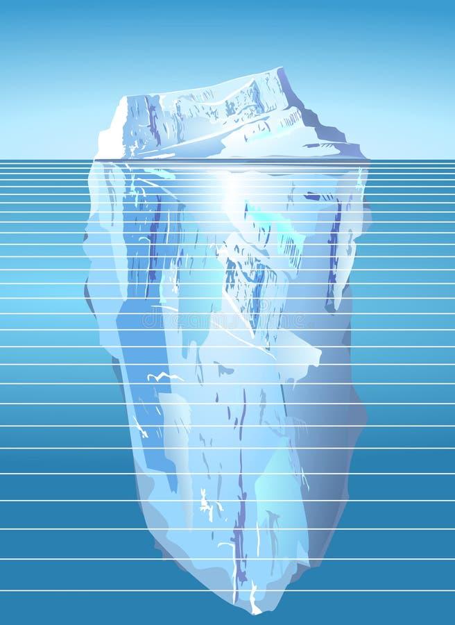 Ijsberg royalty-vrije illustratie